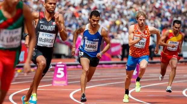 Leandro Paris en el Mundial de Atletismo