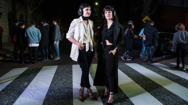 Las novias: Flor Torrente y Violeta Urtizberea acompa?aron a Joaquín Vitola y Juan Ingaramo, respectivamente.