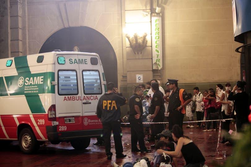 Una ambulancia del Same en la estación de Retiro. Foto: LA NACION / Soledad Aznarez