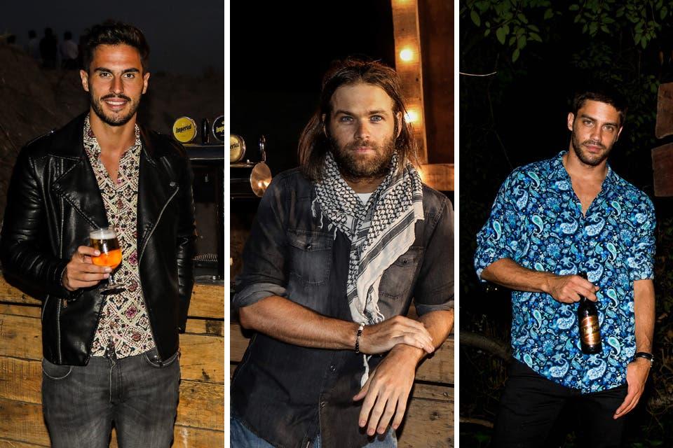 ¡Ellos también se lookean! Juan Marconi, Benjamín Amadeo y Juan Guilera salieron de rotation y la rompieron con sus outfits cancheros. Foto: OHLALÁ! /Gentileza Prensa