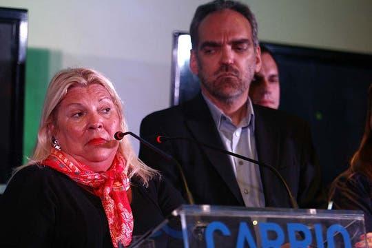 Carrió dijo que fue su peor elección. Foto: DyN