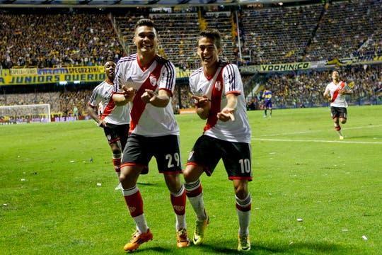 River le ganó a Boca 2 a 1 y es escolta en el torneo Final.Volvió a ganar en la Bombonera después de 10 años. Foto: AP