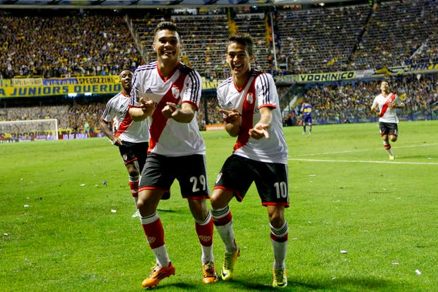 River le ganó a Boca 2 a 1 y es escolta en el torneo Final.Volvió a ganar en la Bombonera después de 10 años.  Foto:AP