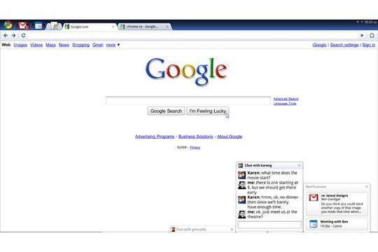 Las primeras imágenes de este nuevo sistema operativo. Foto: Google