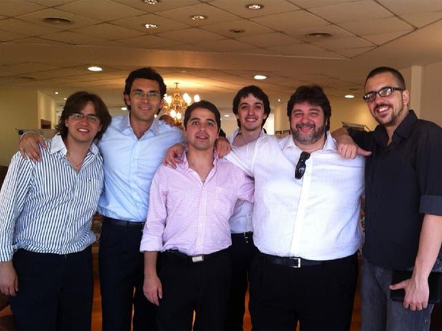 Gustavo Ariel Molina Segura, Ruben Salím Brovia, Lucas Soria, Jose Luis Ruiz Moreno, Gabriel Déboli y Benjamín Arned