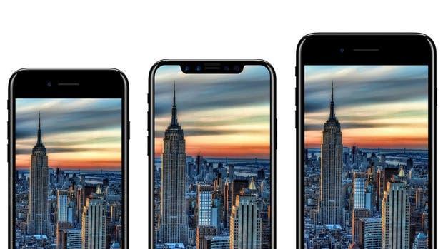 Una de las tantas imágenes filtradas que apuestan a tres versiones de iPhone para el décimo aniversario del smartphone de Apple