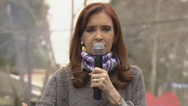 Cristina Kirchner dio un discurso en la villa 31