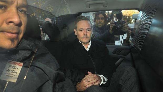 Fernando Farré, esposado, tras conocerse la sentencia en los tribunales de San Isidro