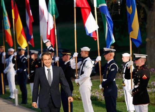 La llegada del presidente español, Rodríguez Zapatero, al Centro de Convenciones David L. Lawrence, en la ciudad de Pittsburgh, Pensilvania.. Foto: EFE