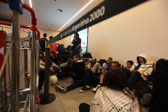 38 vuelos fueron cancelados debido al conflicto gremial. Foto: LA NACION / Ricardo Pristupluk