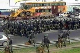 La Gendarmería desalojó a los cooperativistas que protagonizaron el corte