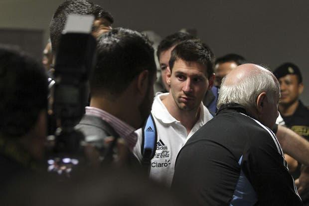 Messi, ayer tras el partido de la Argentina