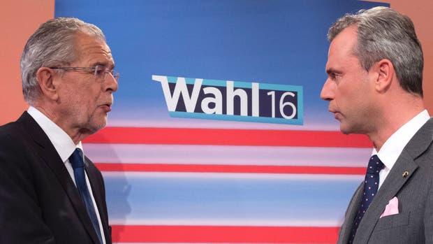 Alexander Van der Bellen y Norbert Hofer volverán a enfrentarse en un ballottage