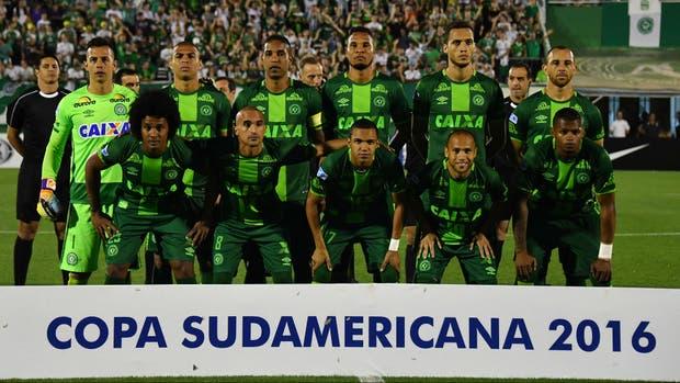 El equipo del Chapecoense que jugó la semana pasada la segunda semifinal de la Sudamericana contra San Lorenzo