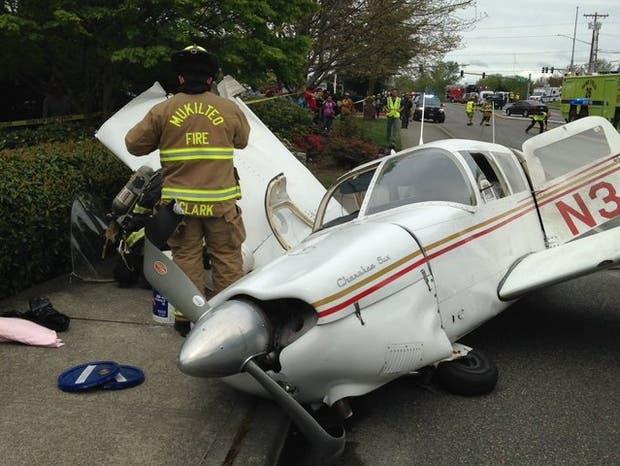Pese a la impactantes imágenes, no hubo víctimas ni heridos tras el accidente