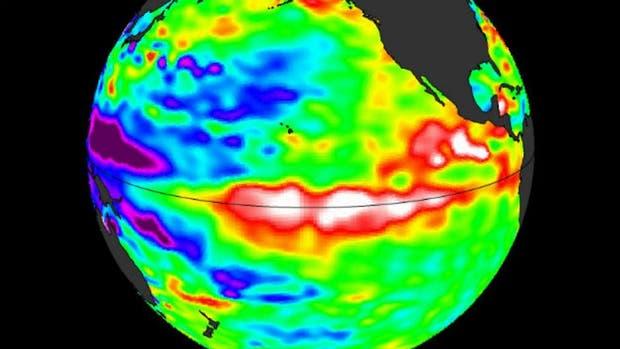 Cuando El Ni?o está activo el agua del océano en la zona ecuatorial está más caliente