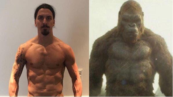 Ibrahimovic y King Kong, ¿parecidos?