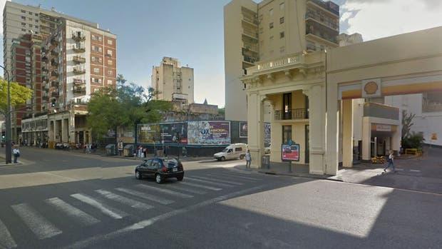 La intersección de la Avenida Paseo Colon y Estados Unidos, donde los oficiales de la policía escucharon los pedidos de auxilio de la mujer