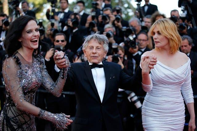 Eva Green, Roman Polanski y Emmanuelle Seigner