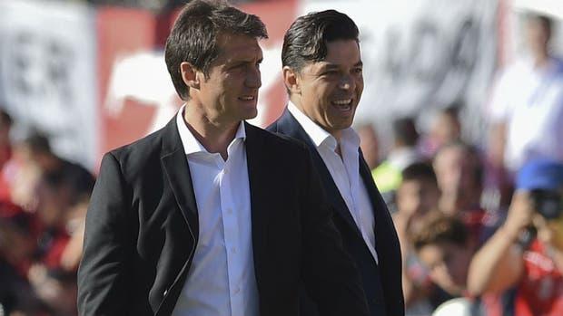 Barros Schelotto y Gallardo: rivales, no enemigos