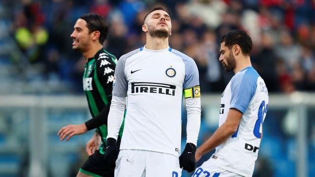 Icardi desperdició un penal e Inter cayó con Sassuolo