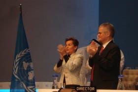 Christiana Figueres, secretaria ejectuviva del Clima en la ONU, aplaude la extensión del Protocolo de Kyoto
