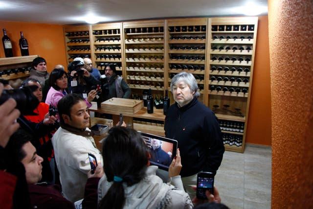 Lázaro Báez les mostró su bodega a los periodistas