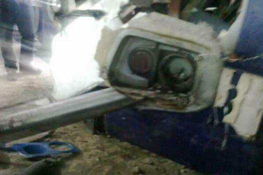 Otro tren de la línea Sarmiento chocó en la estación Once y provocó 80 heridos; no hubo víctimas fatales. Foto: Twitter