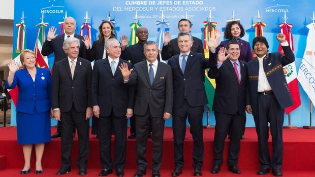 La foto de familia de los mandatarios del Mercosur