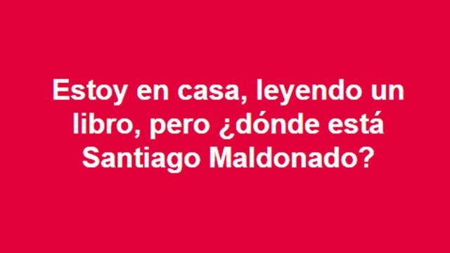 Miles de argentinos reclaman en las redes por la aparición de Santiago Maldonado