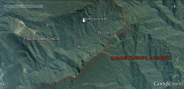 En el sitio A fue hallada Lía Constantino; en el sitio B encontraron a Mario Bidinost