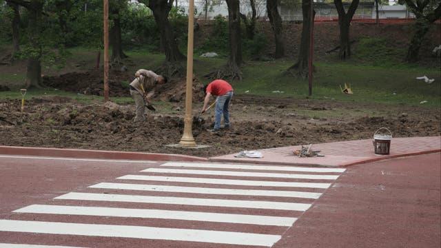 El asfalto y las veredas serán rojos