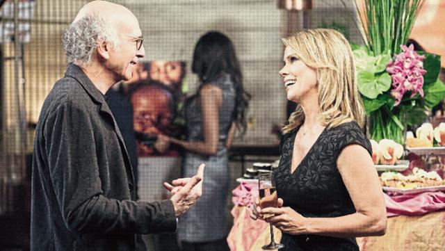 David junto a Cheryl Hines, quien interpreta a su ex esposa: siguen discutiendo como si aún estuvieran casados