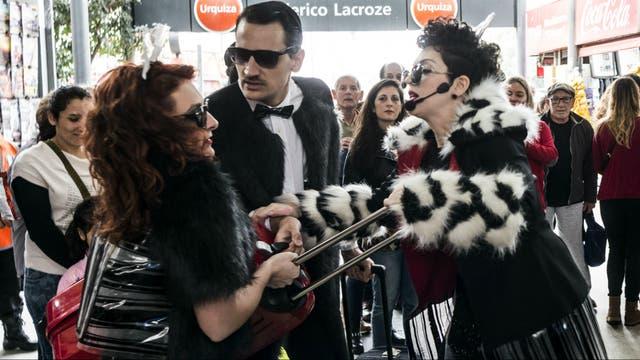 La performance que harán en el Urquiza debutó el año pasado en el subte