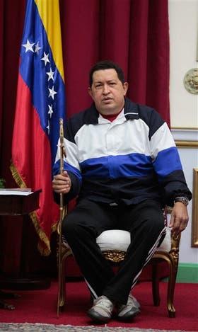 Una de las últimas fotos de Chávez, tomada anteanoche, antes de viajar a Cuba