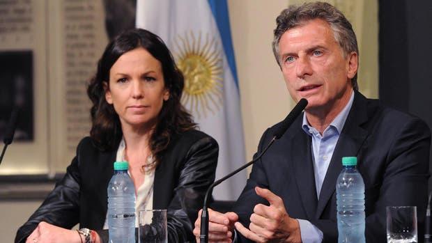 Carolina Stanley, ministra de Desarrollo Social, y Mauricio Macri