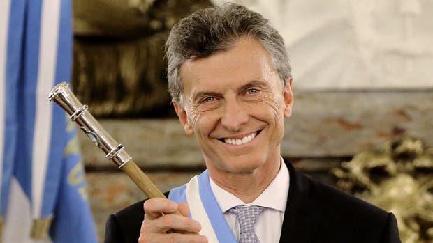 Mauricio Macri el día de su asunción como Presidente