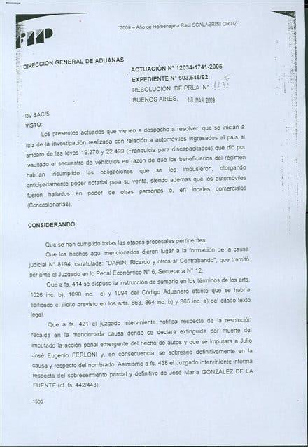 En una actuación administrativa, la Aduana entendió que no cometió el delito de contrabando y lo desligó de la causa
