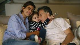 Macri, junto a su familia