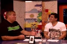 En 2014, Cejas y Maradona volvieron a encontrarse durante el Mundial de Brasil, en el programa De Zurda