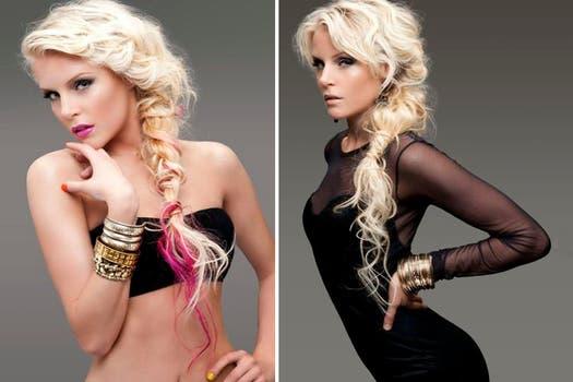 Alexandra Larsson  fue la modelo elegida para la campaña 2012 de una importante peluquería. Foto: http://www.jessicaleo.com.ar