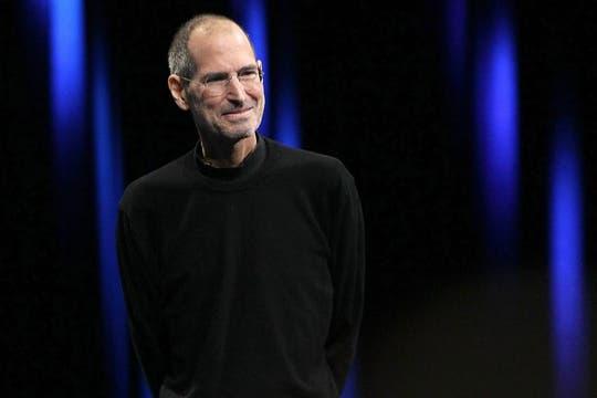 Steve Jobs, en la conferencia mundial de desarrolladores de Apple. Foto: AFP