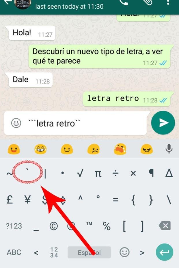 c mo usar el nuevo tipo de letra secreto de whatsapp