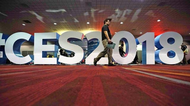 La muestra CES 2018 en Las Vegas, Nevada