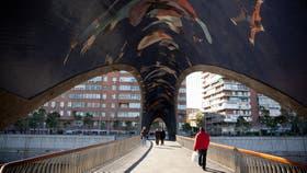 El nuevo circuito Madrid Río, sobre el cauce del Manzanares