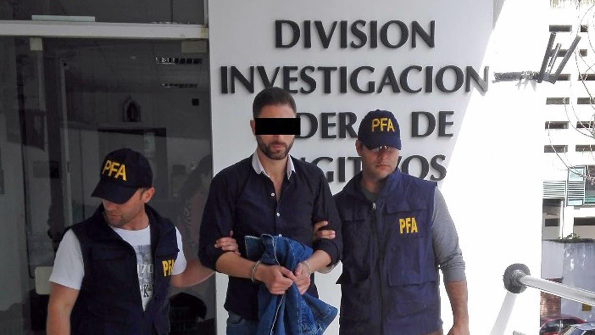 Leandro Santos fue detenido ayer en Núñez