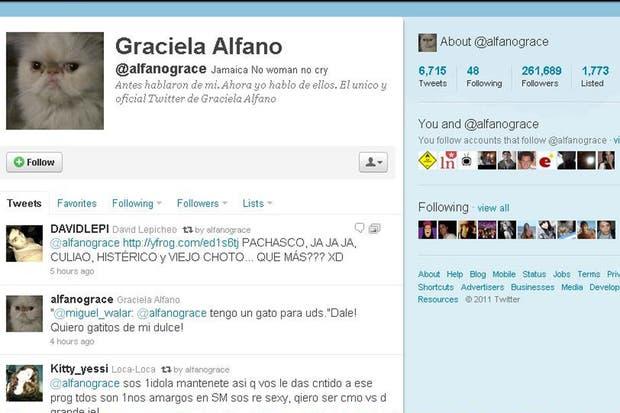 Graciela Alfano y su página