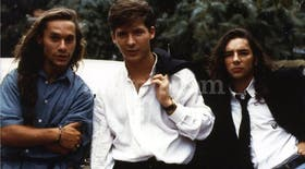 La banda del Golden Rocket. Diego Torres, Adrián Suar y Fabián Vena, la parte masculina de los protagonistas. Las chicas eran Araceli González, Marisa Mondino y Gloria Carrá