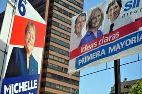 Publicidad política de las dos principales candidatas a Presidenta