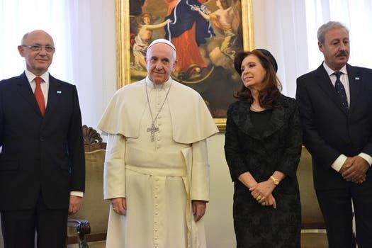 La presidenta Cristina Kirchner se reunió con el Papa Francisco. Foto: EFE
